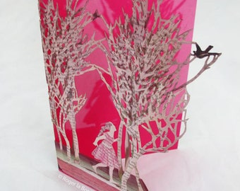 Enchanted Forest Laser-cut Greeting Card