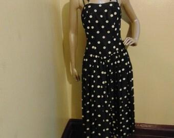 Vintage B&W Polka Dot Dress