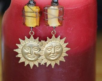 Sun goddess dangles