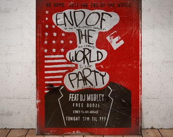 Mr Robot Poster, End of the World poster, Mr Robot fan gift, Fsociety, evilcorp, gift for him, elliot alderson hacker, mr robot print, ecorp