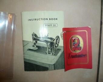 Pfaff 30 Sewing machine Instruction Manual