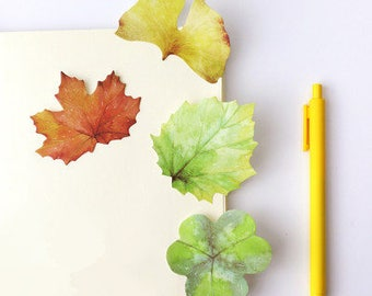 Leaf -Sticky Notes, Medical Plaster Post It Notes, Reminder Notes, Memo Pad Stickers, Planner Page Marker Stickers