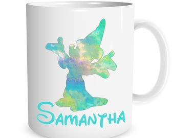 Personalized Mickey Mouse Wizard watercolor Ceramic Mug