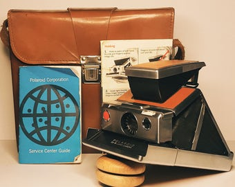 SX-70 Polaroid in Original Packaging and carrying case TESTED/WORKING