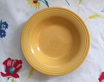 Vintage Fiestaware Original Yellow rimmed soup dish