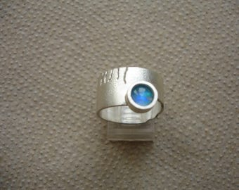 Silver Ring with Opal 1