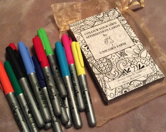 Colouring Affirmations Card Deck Kit