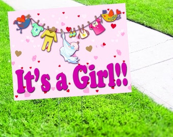 It's a Girl Promotion Yard Sign