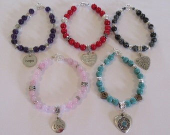 Gemstone BRACELETS WITH TOGGLES