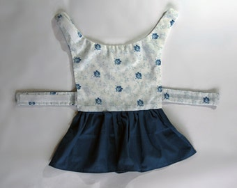 Found & Vintage Fabric Dog Dress, one of a kind, pre-sized in SMALL