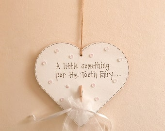 Tooth fairy hanging heart