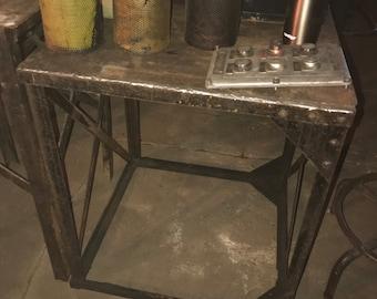 Industrial / Vintage / Antique End Table