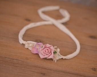 Handmade Newborn/Baby Headband/Tieback - Photography Props