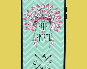 Free Spirit Design Phone Case with 3 initials.  Customized Name. Monogrammed Case. Personalized.