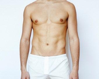 Mens Short Boxer Underwear - Natural