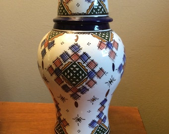Handmade Moroccan Vase with lid