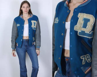 RESERVED 70s Letterman Jacket // Vintage Varsity Jacket Wool Coat Mens Womens - Medium