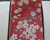 Cherry Blossom Sakura Japanese Handmade Washi Boxed Note Card Set