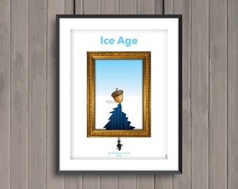 ICE AGE, minimalist movie poster