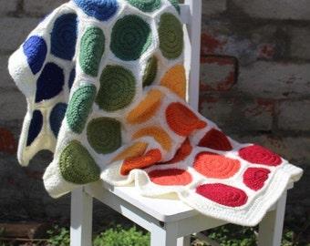MADE TO ORDER - Crochet baby blanket, crochet blanket, pram blanket, rainbow blanket, hexagon blanket, circle blanket, spot blanket