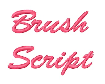 3 Sizes Brush Script Embroidery Fonts BX Embroidery Fonts PES Alphabets Digital Machine Embroidery Instant Download