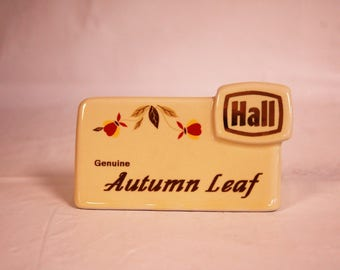 Autumn Leaf Hall China Specialties counter sign
