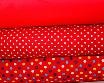 Red Spot Fat Quarter Collection Cotton
