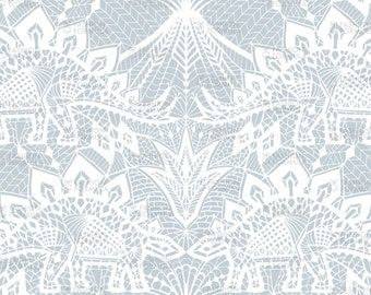 Stegosaurus Lace Fabric  by andreaalice