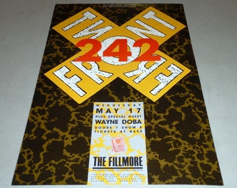 Front 242 at the Fillmore Concert Poster - May 17, 1989