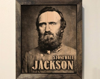 Stonewall Jackson Wooden Sign