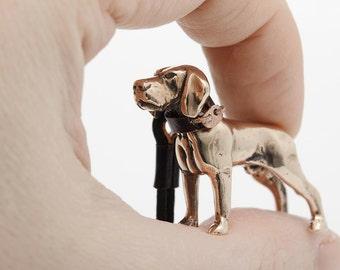 Vakkancs Hungarian Vizsla bronze keychain (3D)