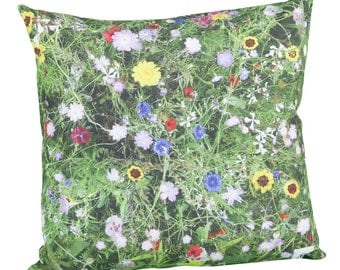 Pillow square garden flowers