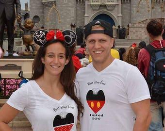 Engagement T-shirts ste, Disney proposal t-shirt. Future bride and gromm shirt set