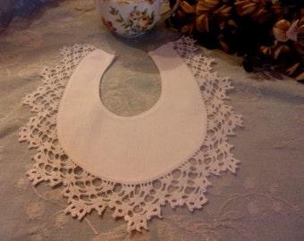 nice old bib, lace,