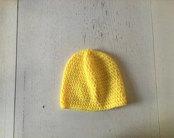 Yellow Baby Crocheted Hat