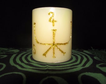 Sigil Candle For Prosperity