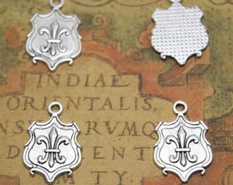 20pcs Fleur De Lis Charms silver tone Fleur De Lis Charms Charms pendants 16 x 18 mm ASD1738