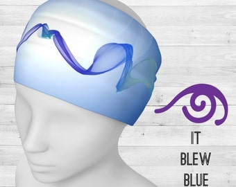 Headband IT BLEW BLUE by Drishti Art Wear