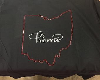 Ohio Home Rhinestone Design