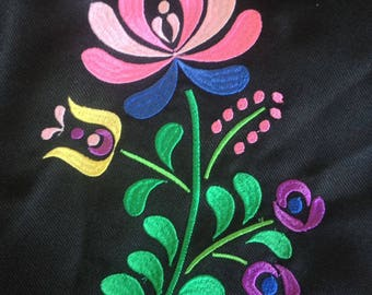 Flower JAZ embroidery design, embroidery matrix, different sizes embroidery design Embroidery matrix, Mexican design