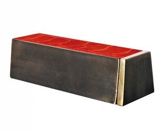 Gold Bar Box in Ostrich Skin / Ashtray