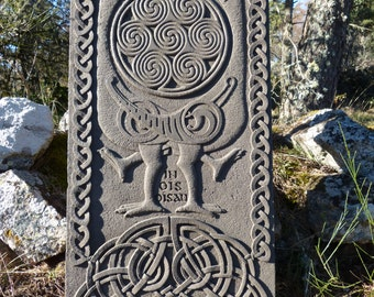 Celtic stone sculpture