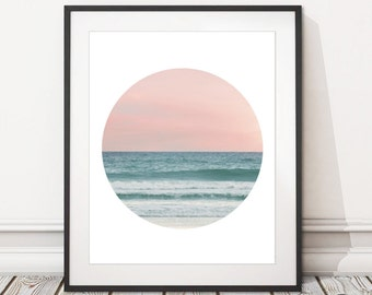 Tropical Sunset Photography Print | Tropical Sunset Beach Photography Print Digital Download | Printable Sunset Sea Print | INSTANT DOWNLOAD