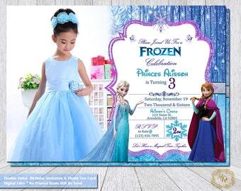 Frozen Invitation.Frozen Party Theme.Frozen Birthday Invitation.Frozen Photo Invitation.Frozen Party.Frozen.Frozen Party Supplies.Invite,