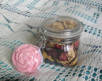 Rose Petals and a Handmade rose soap