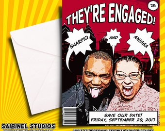 Comic Book Save the Date - Wedding Save the Date - Custom Comic Book Save the Date - Comic Book Wedding - Printable Save the Date