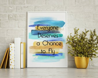 Everyone Deserves to Fly - Wicked - Word Art - 8x10 - Wicked the Musical - Musical Theater Wall Art - Broadway Decor - Broadway Wall Art