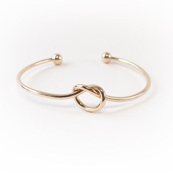 Gold Tie The Knot Bracelet Love Knot Bracelet By Geoholic