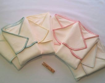 6 pack stretchy bamboo winged preflats (prefolds)