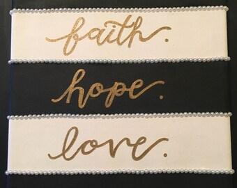 Faith, Hope, Love Painting